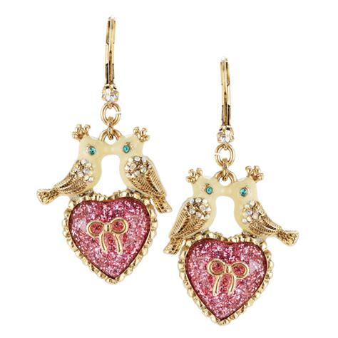 Betsey Johnson For Valentines Day Ebeautydaily The 2 by Betsey Johnson Lovebirds And Drop Earrings In Beige