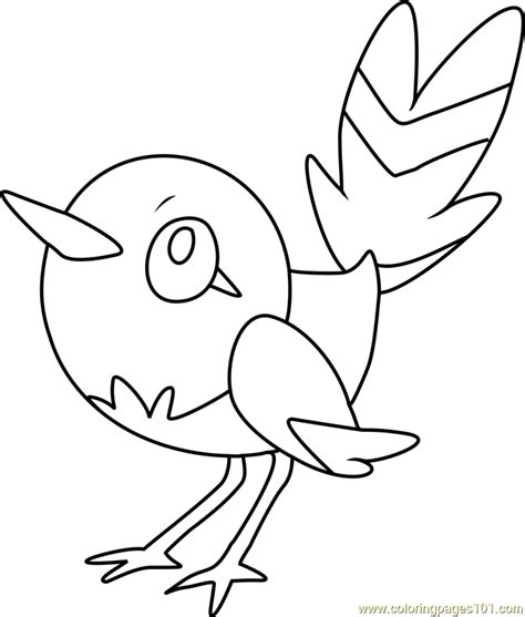 Pokemon Coloring Pages Fletchling | fletchling pokemon coloring page free pok 233 mon coloring