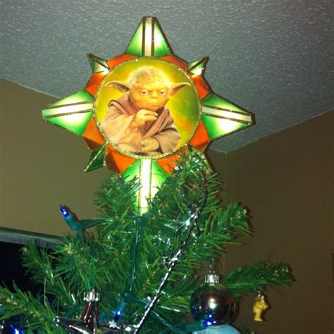 yoda tree topper for star wars tree christmas pinterest