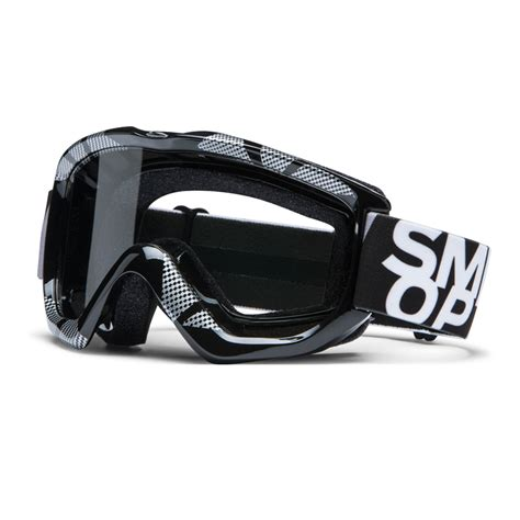 smith optics motocross goggles smith option otg static motocross goggles black silver