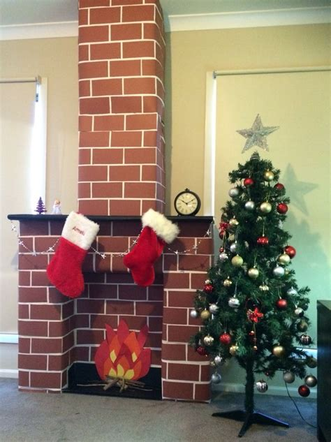 How To Make A Chimney Out Of Paper - 25 best ideas about cardboard fireplace on