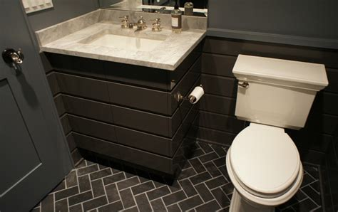 slate herringbone tiles contemporary bathroom benjamin iron mountain hooked on houses