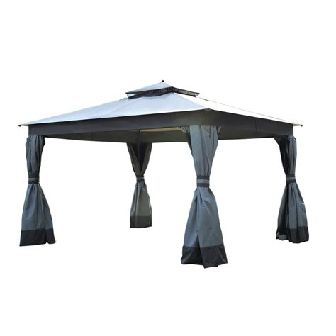 Gazebo Top Replacement Shop Allen Roth Caster Gray Replacement Canopy Top At