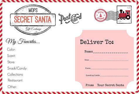 secret santa gift exchange template all things mops