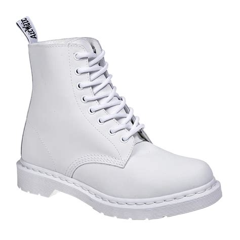 all white boots for dr martens 1460 white unisex mono fl boots leather footwear