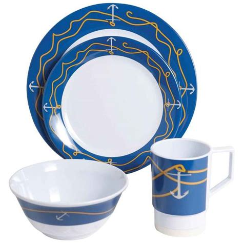 boat dinnerware set galleyware 16 piece dinnerware set west marine