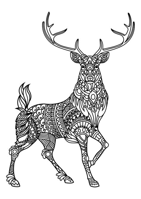 reindeer coloring pages deer coloring pages mandala