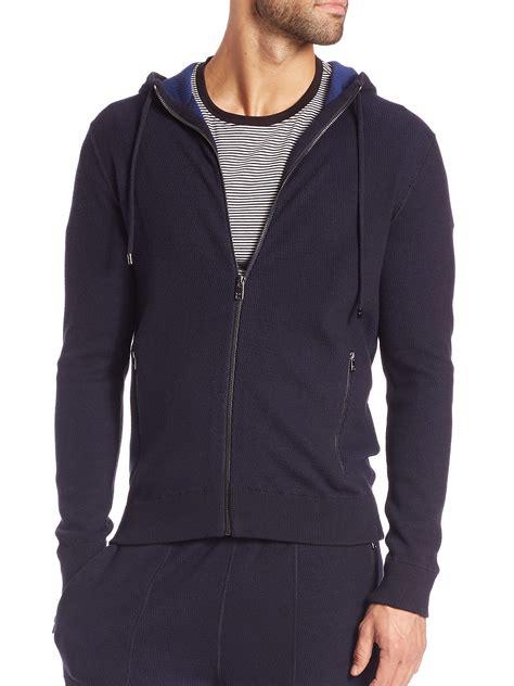 knit hoodie michael kors plaited waffle knit wool cotton hoodie in