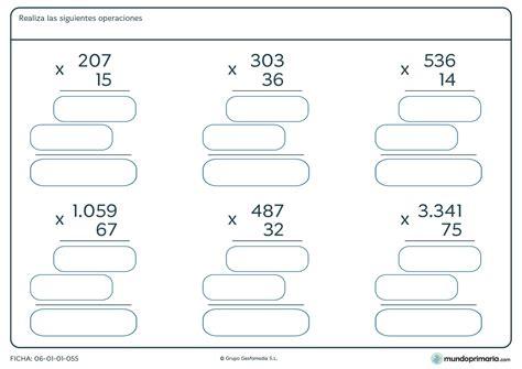 actividades para ni os de cuarto de primaria ficha de multiplicar por n 250 meros de dos cifras para ni 241 os