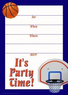 printable birthday cards basketball free printable sports birthday party invitations templates