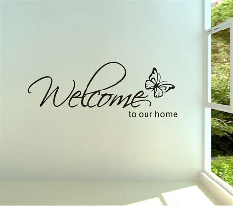 free shipping welcome to our home removable vinyl wall