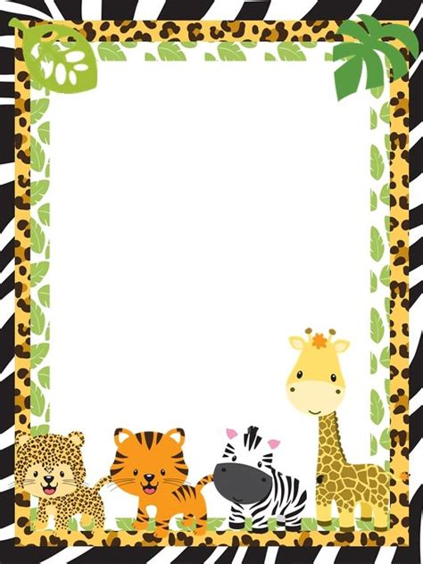 baby jungle animal border clip jungle safari baby shower border pictures to pin on