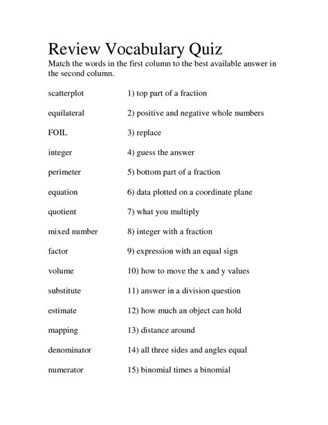 100 vocabulary matching worksheet vegetables worksheet