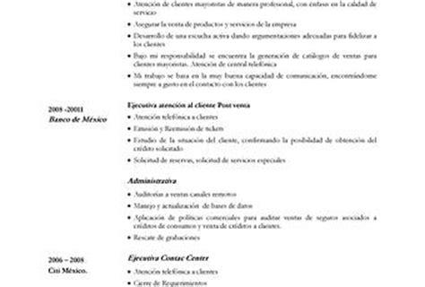 ejemplo cv atencion al cliente ejemplo de curr 237 culum vitae para servicio de atenci 243 n al