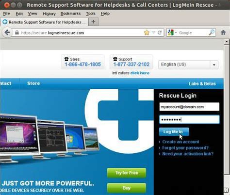 logmein console linux how to use logmein rescue remote support