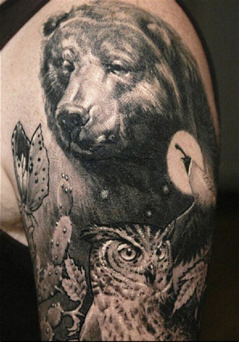 tattoo animal realism realistic monochrome animal tattoo by sergio sanchez