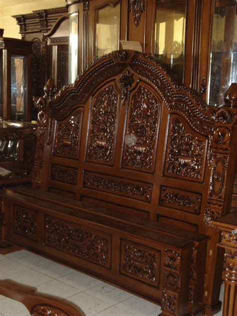 Dipan Kayu Jati Jepara dipan jati jepara model ukiran klasik jepara ds001 mebel jati furniture jepara furniture