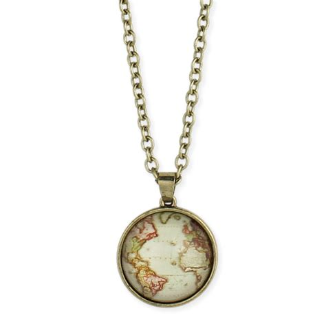 World Map Statement Necklace wholesale gold world map necklace zad fashion costume