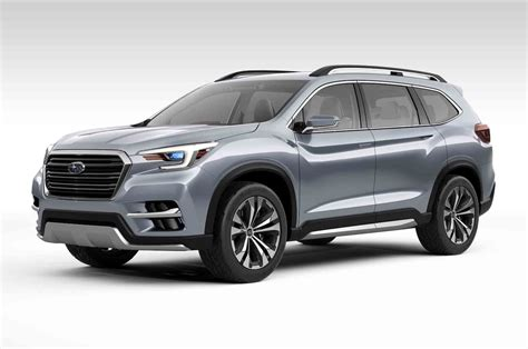 subaru suv subaru ascent concept previews upcoming three row