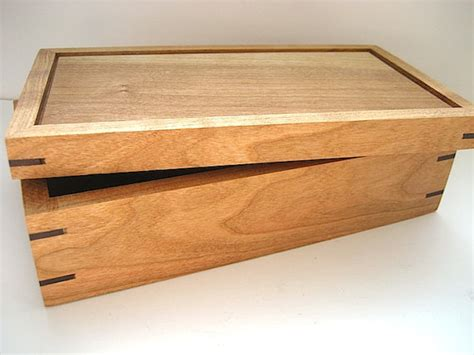 Handcrafted Box - items similar to wooden box solid cherry and walnut