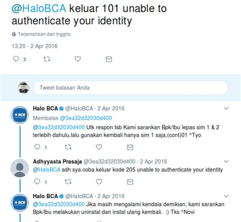 Bca Unable To Authenticate Your Identity | mengatasi unable to authenticate your identity 101 di
