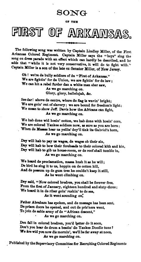 testo note killer marching song of the arkansas