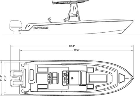 offshore fishing boat plans 28s line drawing contender boats