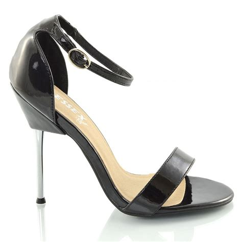 high heel ankle womens stiletto metal strappy