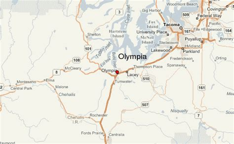 olympia washington map olympia location guide