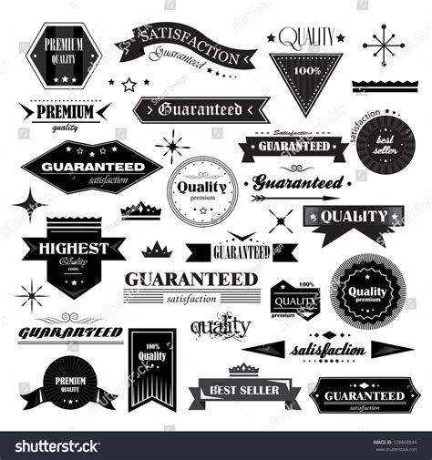 vintage classic design label elements retro design elements labels retro style stock vector