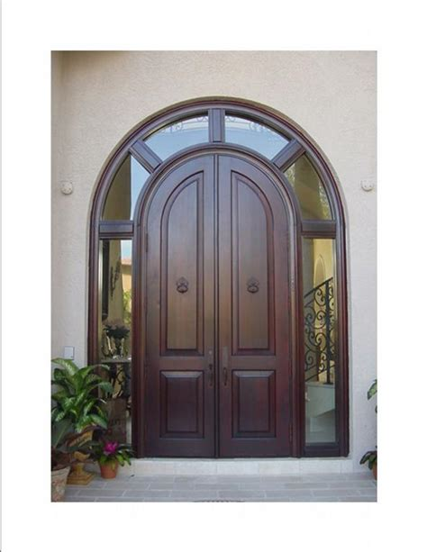 Arch Doors by Mahogany Wrap Transom Arched Doors From Deco Design Center