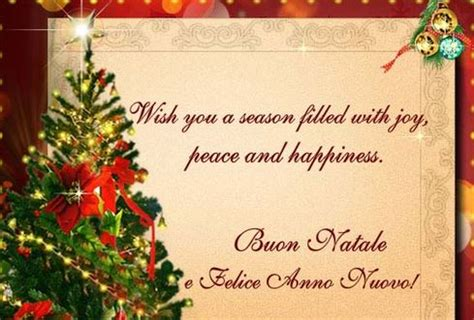 merry christmas happy  year wishes  italian  mas   cards quotes text