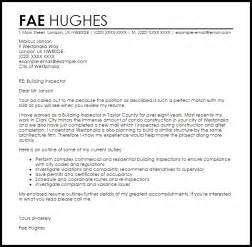 Building Inspector Cover Letter Sample Livecareer