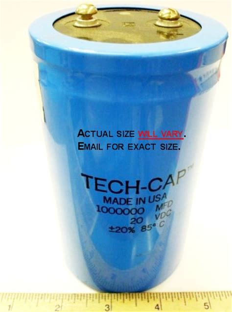 capacitor charge farad big capacitors who needs these tech support forum