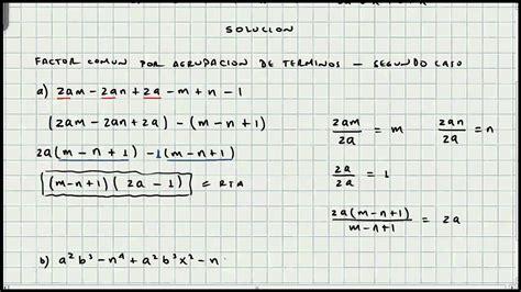 los 10 casos de factorizacion matematicas youtube ejercicio factorizacion segundo caso 193 lgebra mi profesor de matem 225 ticas video 017 youtube