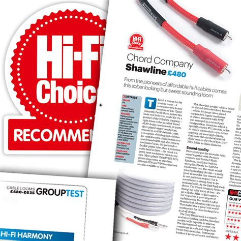 hi fi choice speaker cable reviews product review cable loom test chord shawline