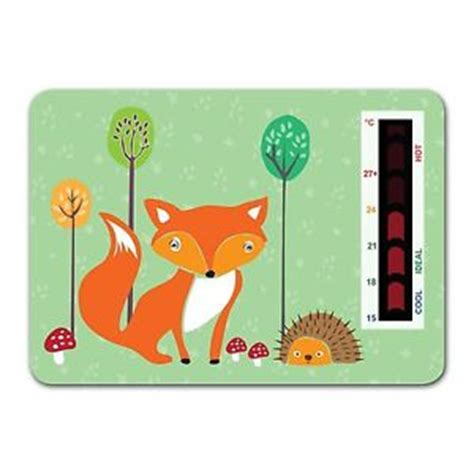safe temp for baby room baby fox and hedgehog nursery room safety temperature thermometer