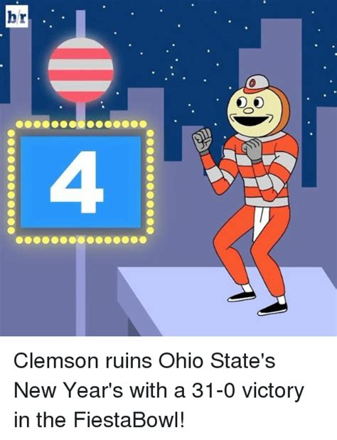 ohio new year s raffle hr clemson ruins ohio state s new year s with a 31 0