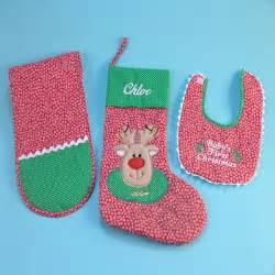 baby s first christmas stocking personalized baby gift