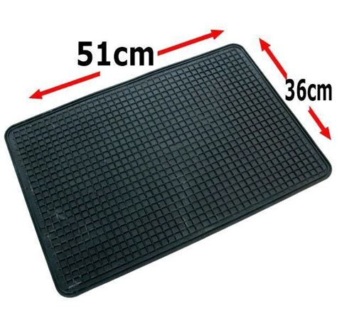 10 pack rubber car floor mat universal 51x36 cm footwell