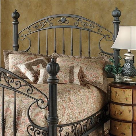 Antique Metal Headboards by Hillsdale Chesapeake Metal Antique Black Gold Finish