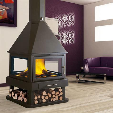 4 Sided Fireplace Wood Burning by Bronpi Huelva Wood Burning Stove Fireplace Products