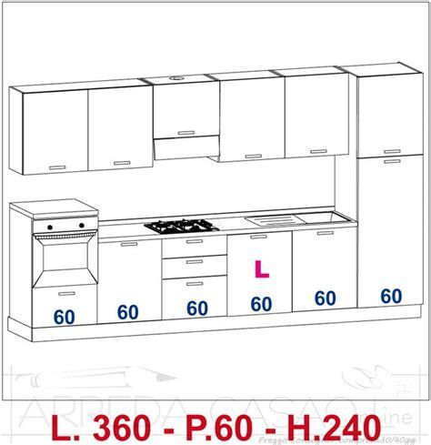 cucine standard misure misure standard mobili cucina finest cucina ascot di
