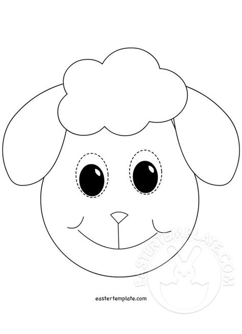 new year sheep mask template image gallery mask