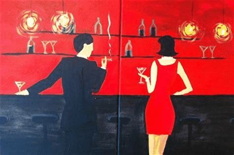 paint nite ques bar couples quot at the bar quot on 1 24 2015 7 00 00 pm at