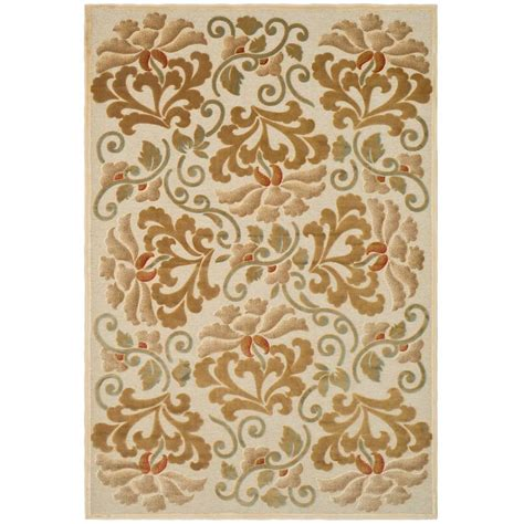 martha stewart rugs home depot martha stewart living martha stewart floating dahlia creme 5 ft 3 in x 7 ft 6 in area rug