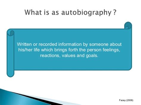 meaning of biography and autobiography autobiography definition ppt