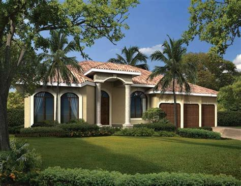 classic mediterranean house designs this charming one story classic mediterranean style house features four bedrooms