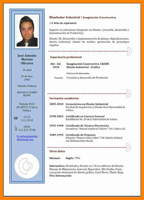 Modelo Curriculum Español Word 4 Curriculum Modelo Word Resume Sections