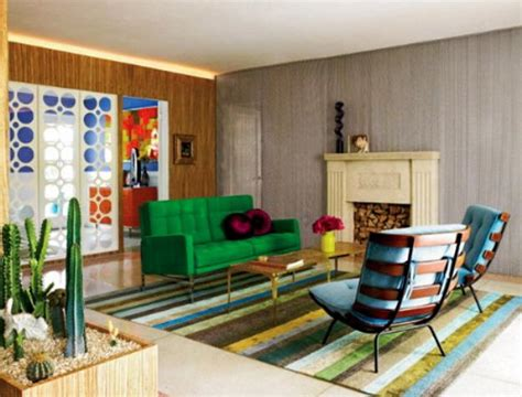 Colorful Interior Design Ideas Geometric Objects And Decoration Patterns In Modern Living Room Designs
